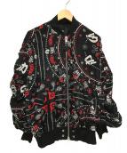 DIESEL(ディーゼル)の古着「レーヨンボンバージップブルゾン 」 ブラック