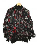 DIESEL()の古着「レーヨンボンバージップブルゾン 」|ブラック