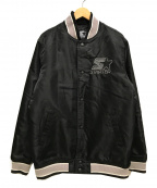 THRASHER×STARTER BLACK LABEL(スラッシャー×スターター ブラック レーベル)の古着「スタジャン」|ブラック