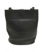 ()の古着「バケツ型レザートートバッグ オールド」|ブラック