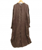 FRAMeWORK()の古着「リネンシャツワンピース」|ブラウン