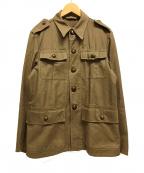 Swedish Army(スウェディッシュアーミー)の古着「チェンジボタンミリタリージャケット」|ブラウン