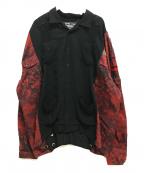 cotemer(コートメル)の古着「リメイクキューバシャツ ミリタリー」 ブラック×レッド