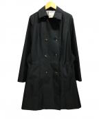 KUMIKYOKU()の古着「ベルト付トレンチコート」|ネイビー