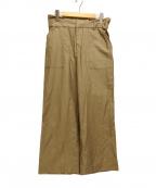 KUMIKYOKU(クミキョク)の古着「リネンワイドパンツ」|ベージュ