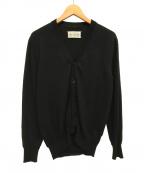 Maison Margiela 10(メゾンマルジェラ 10)の古着「長袖ウールカーディガン」 ブラック