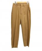 CLANE HOMME(クラネ オム)の古着「リネン混ヴィスコースイージーパンツ」|ベージュ