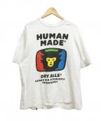 HUMAN MADE(ヒューマンメイド)の古着「HUMAN MADE TV LOGO ロゴTシャツ」|ホワイト