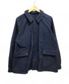 NIGEL CABOURN(ナイジェルケーボン)の古着「モールスキンレイルジャケット」|ネイビー