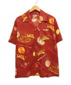 Schott(ショット)の古着「総柄開襟シャツ」 レッド