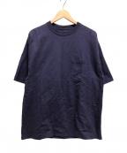 CIOTA(シオタ)の古着「21SS/度詰め吊り天竺ポケット付半袖T」|ネイビー