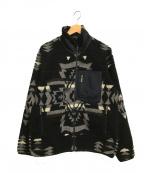 PENDLETON(ペンドルトン)の古着「フリースジャケット/ナノユニバース別注」|ブラック