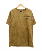 AVIREX(アヴィレックス)の古着「タイガー刺繍Tシャツ」|ブラウン