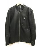 ()の古着「レザーシングルライダースジャケット」|ブラック