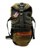 AVIREX(アヴィレックス)の古着「ワッペンボディーバッグ」|グリーン×ベージュ