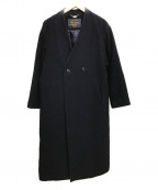 SLOBE IENA(スローブ イエナ)の古着「Vネックオーバーコート」|ネイビー