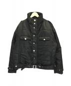 ()の古着「MOTO PUFFER JACKET ジャケット」 ブラック