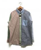 VAN(ヴァン)の古着「長袖クレイジーパターンシャツ」|スカイブルー
