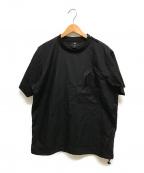 G-STAR RAW(ジースターロゥ)の古着「WOVEN ZIP POCKET LOOSE T-SHIRT」|ブラック