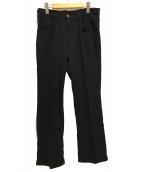 ()の古着「スラックス ポリパン」 ブラック