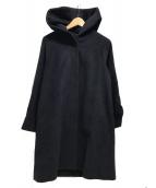 ()の古着「アンゴラフーデッドコート」 ネイビー