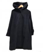 IENA(イエナ)の古着「アンゴラフーデッドコート」|ネイビー