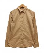 maison kitsune(メゾンキツネ)の古着「フォックスヘッドシャツ ロゴ」|ベージュ
