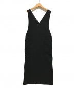 JOURNAL STANDARD(ジャーナルスタンダード)の古着「21SS/ダブルクロスジャンパースカート」|ブラック