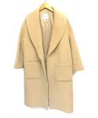 ()の古着「エアリーウールビーバーショールカラーコート」 ベージュ
