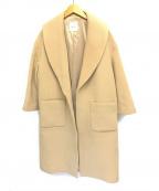 Spick and Span(スピックアンドスパン)の古着「エアリーウールビーバーショールカラーコート」|ベージュ