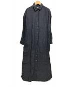 ()の古着「長袖リネンシャツワンピース 定番」|ネイビー