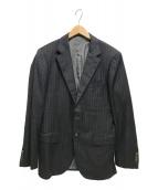 ()の古着「ストライプ2Bジャケット」 ネイビー