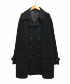 ()の古着「カシミヤ混ダブルコート」|ブラック
