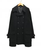 BARNEYS NEWYORK(バーニーズ・ニューヨーク)の古着「カシミヤ混ダブルコート」 ブラック