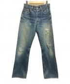 LEVI'S(リーバイス)の古着「ダメージセルビッチデニムパンツ」|インディゴ
