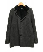 ()の古着「千鳥格子裏毛3Bジャケット」 グレー