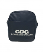 GOOD DESIGN SHOP COMME des GARCONS(グッドデザインショップ コムデギャルソン)の古着「ナイロンショルダーバッグ ロゴ」 ネイビー
