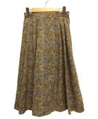 ()の古着「ペイズリー柄スカート」 ベージュ