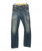 Denham(デンハム)の古着「セルビッチデニムパンツ SKIN TBS」 インディゴ