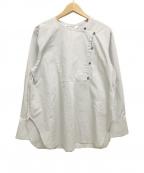 RAY BEAMS(レイ ビームス)の古着「袖スリットアシメシャツ コック」|グレー