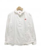 DANTON(ダントン)の古着「長袖ハーフボタン丸襟プルオーバーシャツ」|ホワイト