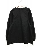 ()の古着「ペーパークロスブラウス 長袖」|ブラック
