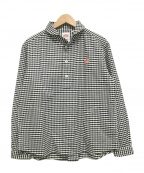 DANTON(ダントン)の古着「丸襟プルオーバーシャツ ギンガムチェック」|ブラック