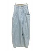 ()の古着「デザインワイドデニムパンツ」|インディゴ