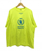 BALENCIAGA(バレンシアガ)の古着「WFP World Food Programme Tシャツ」|イエロー