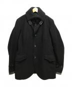 edition(エディッション)の古着「カシミヤ混ドンキーコート」|ブラック