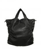kawa-kawa(カワカワ)の古着「2WAYレザーバッグ」|ブラック