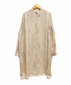 ()の古着「プリントロングシャツ/TINT EBRU SHIRT」 グレー