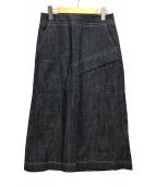()の古着「Aラインデニムスカート スリット」 インディゴ