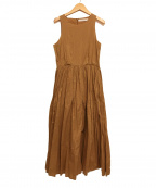 MARIHA(マリハ)の古着「夏のレディのドレス/ノースリーブワンピース」|ベージュ